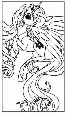 my pony princess celestia coloring pages