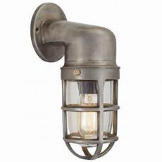 industville vintage industrial cage bulkhead wall light sconce with glass 30 c ebay