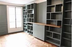 meuble en medium d 233 co salon biblioth 232 que sur mesure r 233 alis 233 en m 233 dium et ch 234 ne la couleur green smok