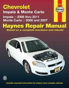 manual repair free 1999 chevrolet monte carlo windshield wipe control chevrolet impala monte carlo haynes repair manual 2006 2011 hay24047
