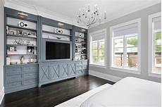 Bedroom Cabinet Color Ideas by Gunmetal Gray Bedroom Built Ins With Polished Nickel