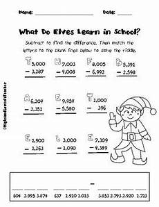 subtraction worksheets with borrowing and zeros 10016 free subtracting across zeros and regrouping math riddle 4 digit numbers subtraction