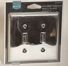 double light switch wallplate wall plate outlet cover polished chrome finish 885785289839 ebay