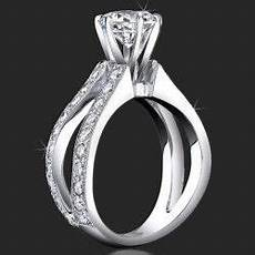 1 05 ctw split shank millegrain and pave diamond engagement ring bbr453 rings i love in
