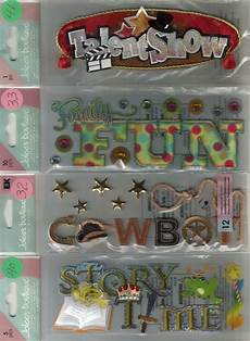 Jolee S Boutique Title Waves Assorted Stickers 3d Choice