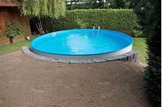 pool in erde einbauen versenkter pool