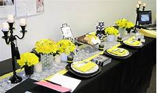 hawaiian island wedding planners black and white damask with yellow accent