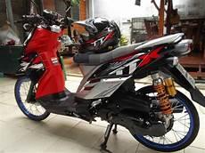 Modifikasi X Ride Standar by 95 Foto Modifikasi Motor Mio Warna Hitam Teamodifikasi