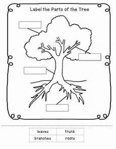 parts of a tree worksheet tree study preschool worksheets free printables kindergarten science