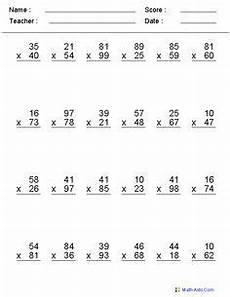 double digit multiplication worksheets two digit multiplication4 two digit multiplication