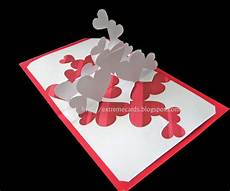 pop up card templates free pile of hearts pop up card diy craft projects