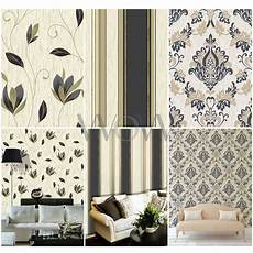 dekoration für flur vymura synergie schwarz gold glitter tapete streifen blumenmuster damast uni ebay