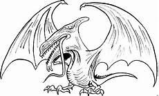 boeser drache ausmalbild malvorlage phantasie