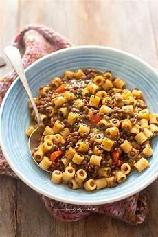 lenticchie a bagno pasta e lenticchie la ricetta originale veloce facile e