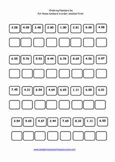 year 6 maths worksheet ordering numbers teaching resources