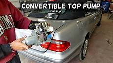 mercedes w208 clk convertible top removal replacement