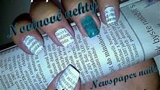 nehty k mori newspaper nail tutorial novinov 233 nehty