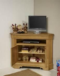 meuble tv angle chene massif meuble tv d angle arnaud en ch 234 ne massif de style louis