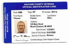 veteran id card template clerk county clerk to offer veterans photo id cards