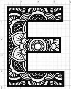 mandala coloring pages letters 17930 mandala alfabet letter e design svg pdf eps dxf studio 3