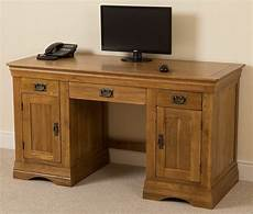 home office computer desk furniture french rustic solid oak wood pc computer desk home office