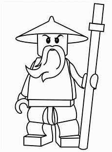 Malvorlagen Gesichter Ninjago Sensei Wu From Lego Ninjago Coloring Page To Print Out
