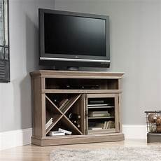 tv racks sauder 414729 corner tv stand the furniture co