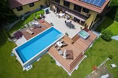 Terrasse Mit Pool Bauer Und S 246 Hne