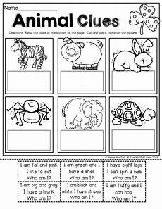 sentence building worksheets cut and paste 21045 read simple sentence clues cut and paste to match the picture for beginning readers