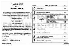 how to download repair manuals 1986 buick regal navigation system 1987 buick regal and grand national owner s manual reprint