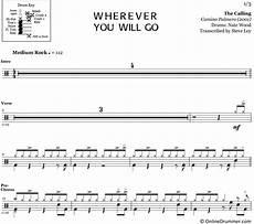 wherever you will go the calling drum sheet music onlinedrummer com