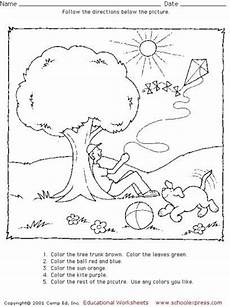 following directions worksheets for 2nd grade 11808 17 best images about for children on grade reading pictures