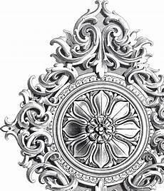 Jugendstil Malvorlagen Vintage Amazing Antique Rosette Scrolls Ornament Jugendstil