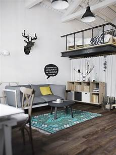 chic scandinavian studio with lofted chic studio apartments how to master small space living