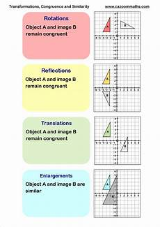 transformations congruency and similarity transformations math teaching geometry