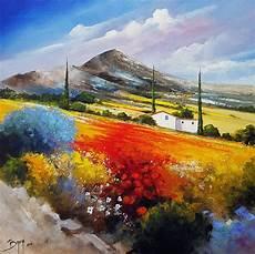 au pied de la montagne tableau peinture de l artiste