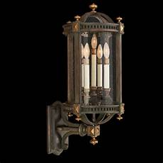 seeded glass outdoor wall light brown and gold highlights fine art ls 564781st