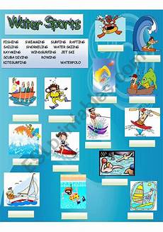 water sports worksheets 15894 water sports esl worksheet by chino182