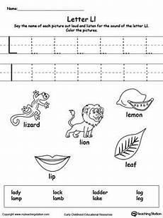 letter l sound worksheets 24492 words starting with letter l with images alphabet worksheets preschool letter l letter l