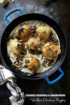 chicken thighs with rosemary mushroom sauce eazy