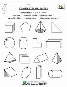 3d shapes worksheet early years 1107 pin on גופים