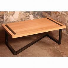 barnab 233 table basse design en bois et acier noir