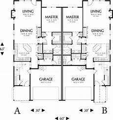 duplex house designs floor plans spacious duplex home plan 6983am architectural designs