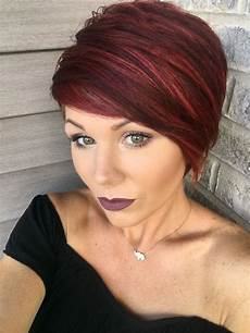 Rote Haare Frisuren - pixie with highlights hair hair