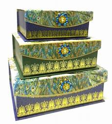 decorative nesting boxes punch studio everyday brooch flap nesting trinket boxes