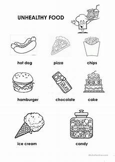 healthy unhealthy food english esl worksheets for distance learning and physical classrooms