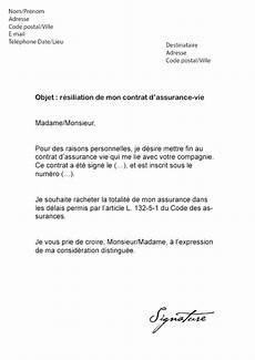 lettre de résiliation contrat d assurance fresh lettre rachat assurance vie