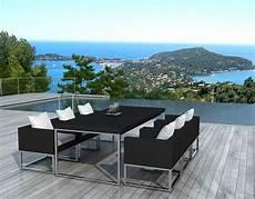 Salon De Jardin Design 1 Table 6 Fauteuils