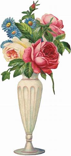 vintage flowers vase image the graphics