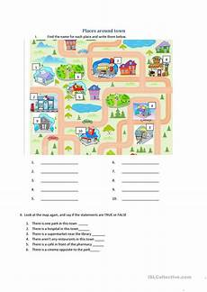 places around town worksheets 16029 places around town esl worksheets for distance learning and physical classrooms
